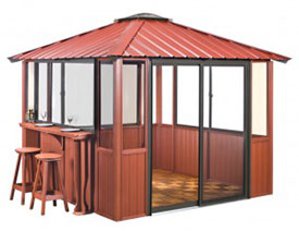 Gazebo 10x10 Enclosed with Bar