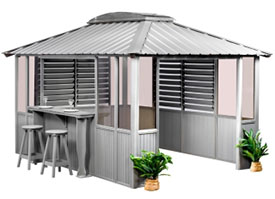 Gazebo Coastal Gray