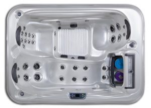Santiago 3 seat 7 foot 110v hot tub with lounge seat