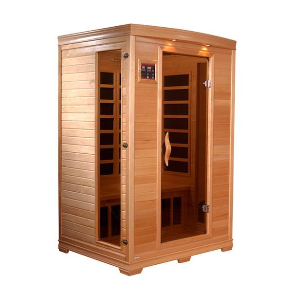 Two person infrared sauna
