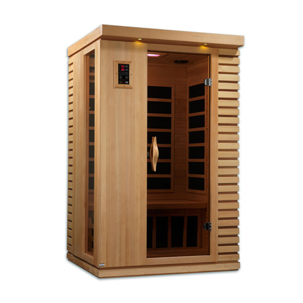 Two person ultra low EMF infrared sauna