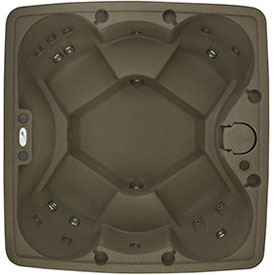 5 person brownstone hot tub from Dream Maker Spas
