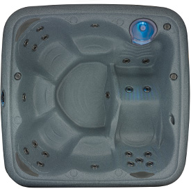 6 person hot tub with lounge seat from Dream Maker Spas