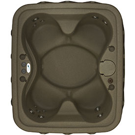 4 person brownstone hot tub from Dream Maker Spas
