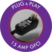 110v / 15 amp plug for plug & play hot tubs