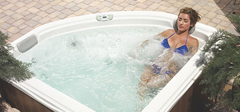 Two seat hot tub Camellia by Artesian Spas