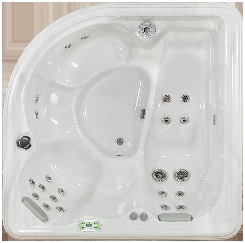 Garden Series Camellia 2 seat 110v corner hot tub