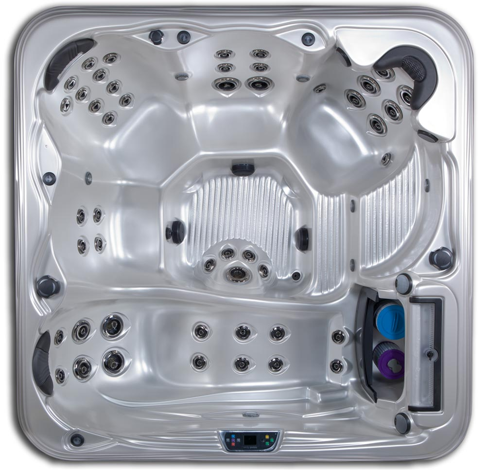 Antigua 6 seat 7 foot hot tub with lounge seat