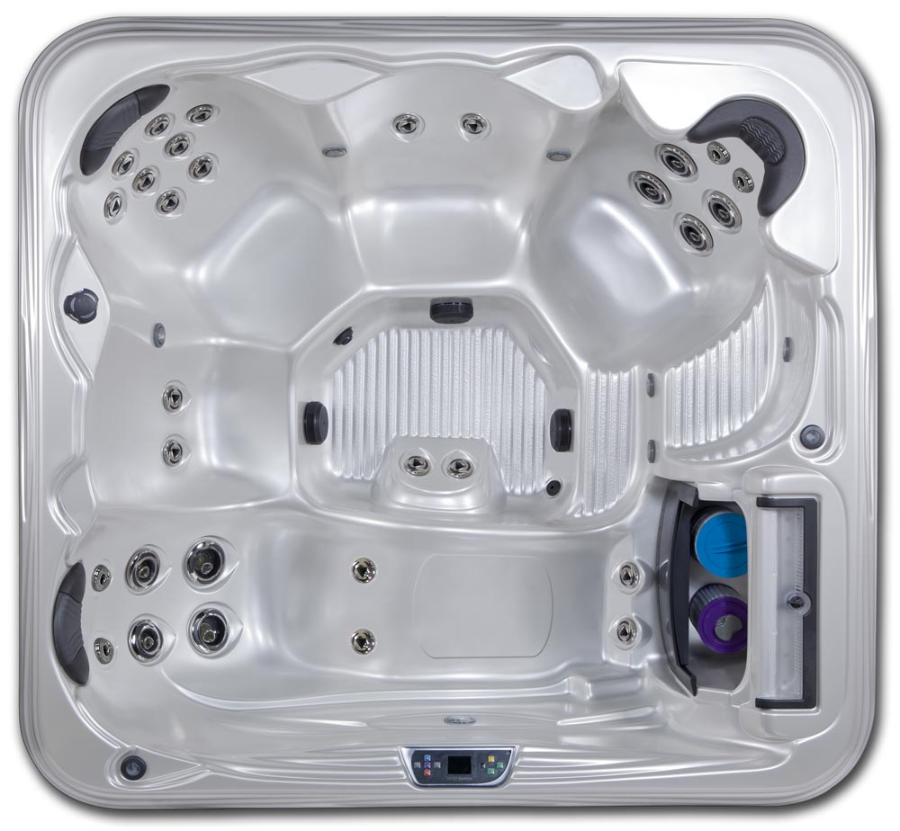 St. Kitts 7 seat 7 foot 110v hot tub with lounge seat