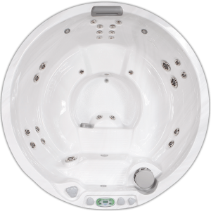South Seas Deluxe 627M round hot tub with 5 seats, 6.5 foot diameter
