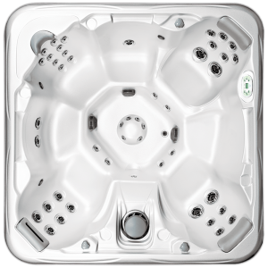 South Seas Deluxe 748B & 748L hot tub with 7 seats, 7 foot size