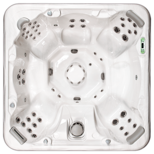 South Seas Deluxe 860B & 860L hot tub with 7 seats, 8 foot size