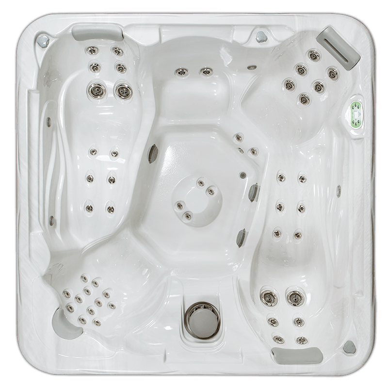South Seas 853DL hot tub with dual lounge seats, 8 foot size